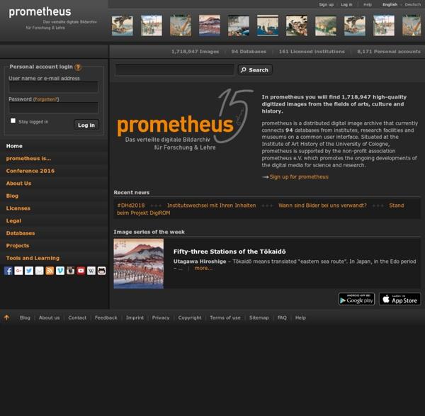Das prometheus-Bildarchiv: Hochwertige Bilder zu Kunst, Kultur und Geschichte