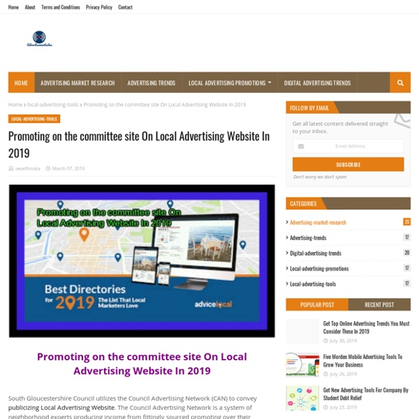 Promoting on the committee site On Local Advertising Website In 2019