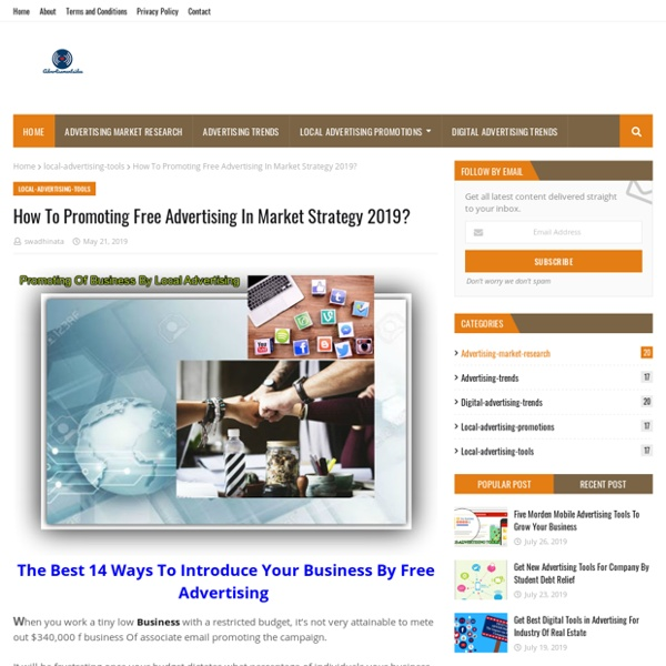 How To Promoting Free Advertising In Market Strategy 2019?