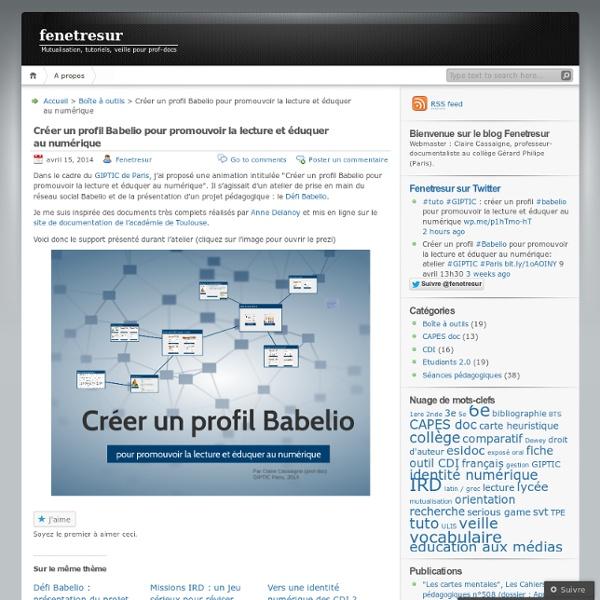 Créer un profil Babelio pour promouvoir la lecture et éduquer au numérique