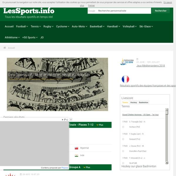 Les-Sports.info - résultats sportifs, aide aux pronostics sportifs et statistiques sur le sport