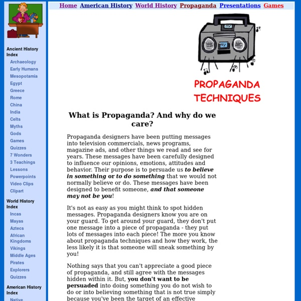 propaganda techniques essay Propaganda essay jacqueline de leeuw even though propaganda can promote both positive and negative things, i strongly believe that propaganda generally has negative effects towards society.