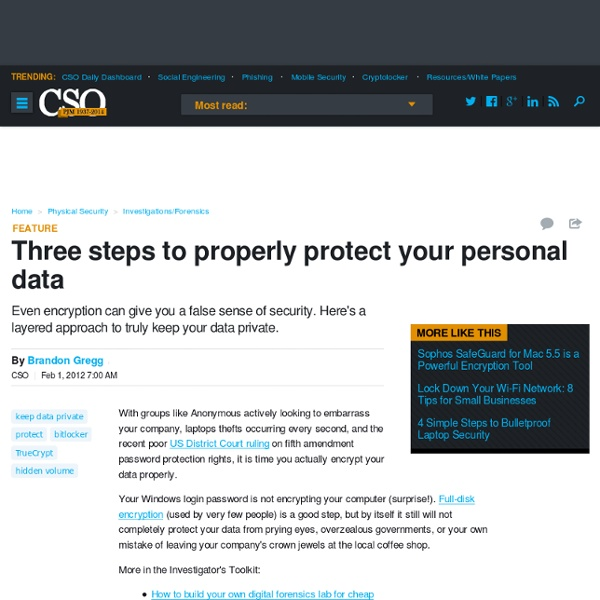 Three steps to properly protect your personal data
