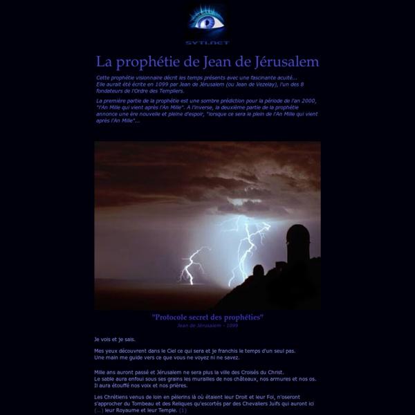 La prophétie de Saint-Jean de Jerusalem