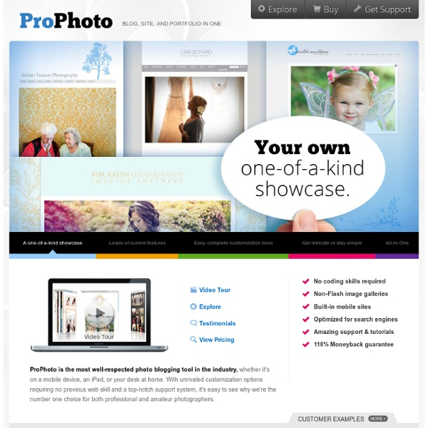 ProPhoto Blogs: Blog, site, and portfolio in one