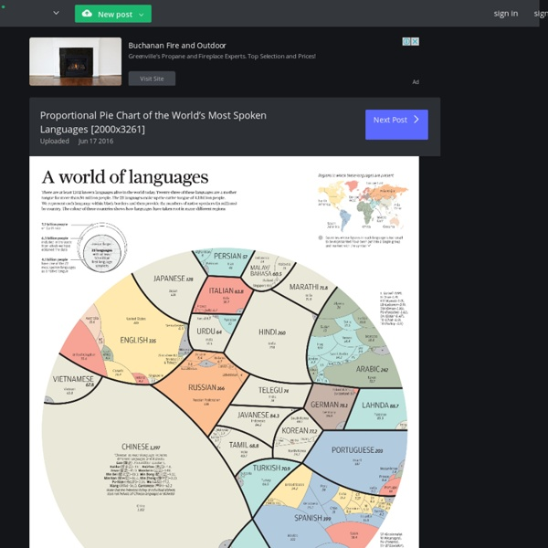 Proportional Pie Chart of the World's Most Spoken Languages [2000x3261]