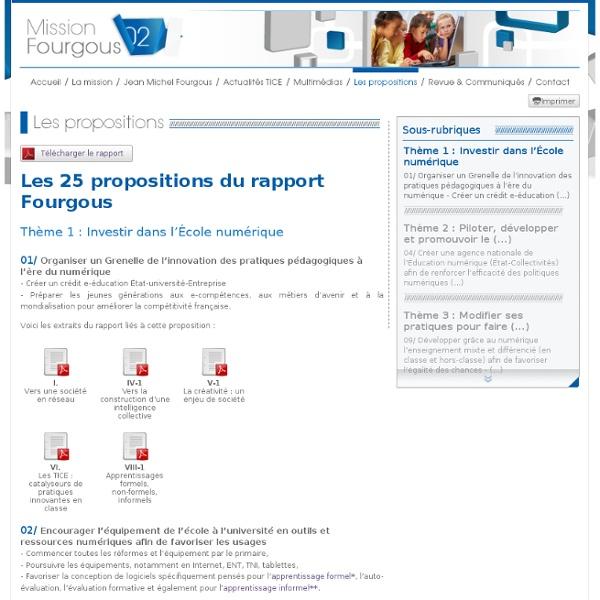 Les propositions - Fourgous - Dossier de presse interactif