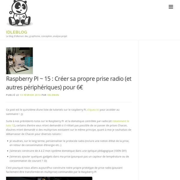 15 : Créer sa propre prise radio (et autres périphériques) pour 6€