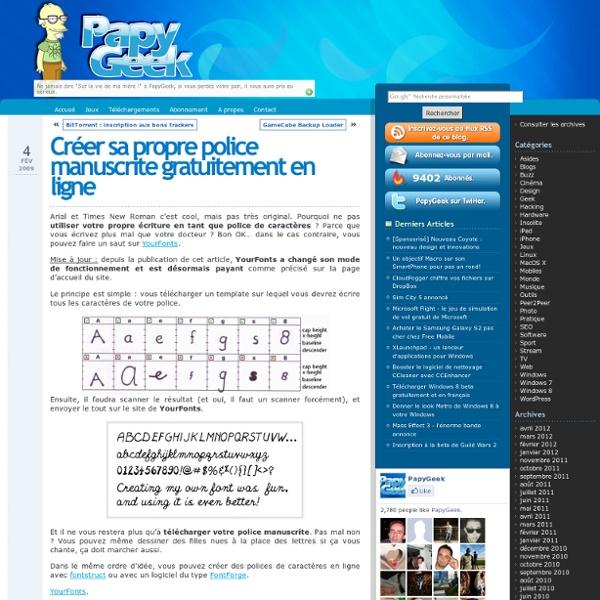 Créer sa propre police manuscrite en ligne