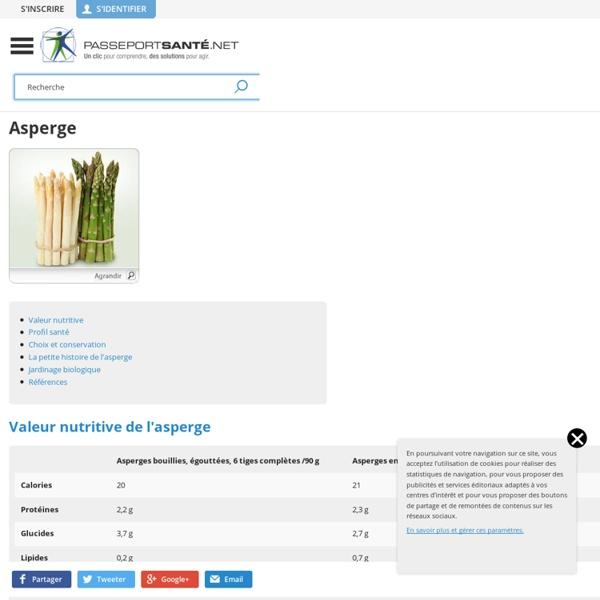 Les asperges : bonnes pour la santé, faibles en calories !