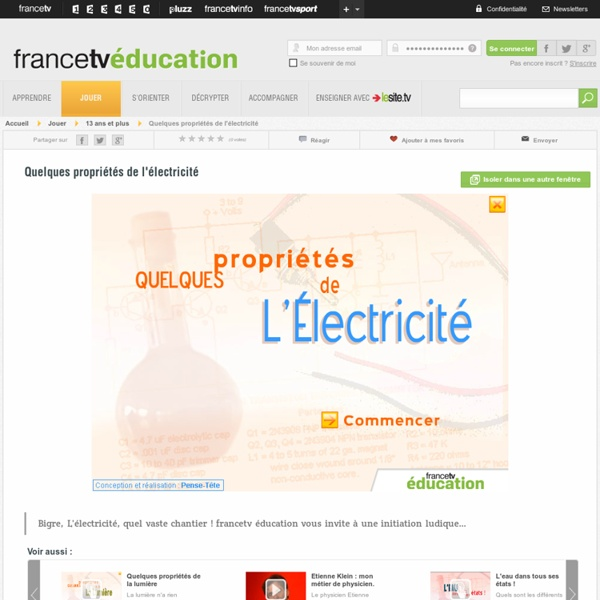 Quelques propri t s de l 39 lectricit pearltrees for Bases de l electricite