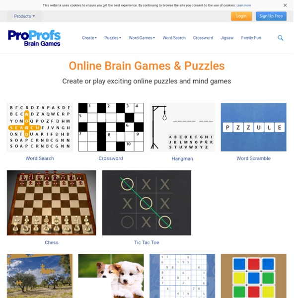 Brain Games and Online Puzzles