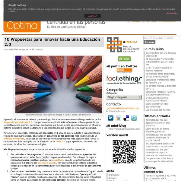 10 Propuestas para Innovar hacia una Educación 2.0