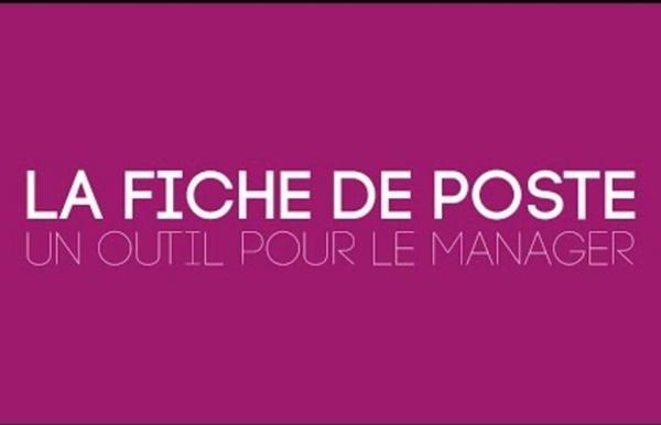 ProRH : La fiche de poste - un outil pour le manager