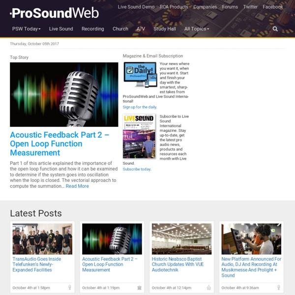 Pro Sound Web