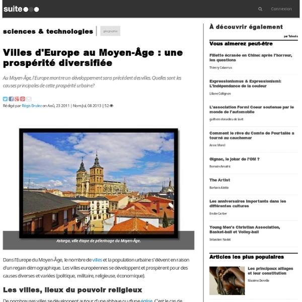 Villes d'Europe au Moyen-Âge : une prospérité diversifiée