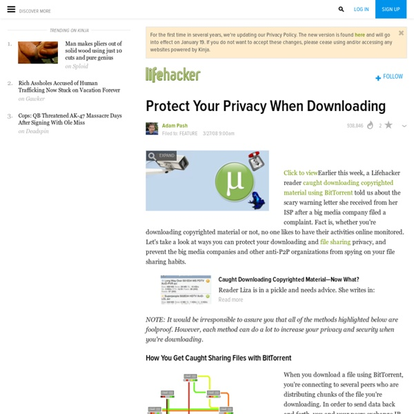 Protect Your Privacy When Downloading