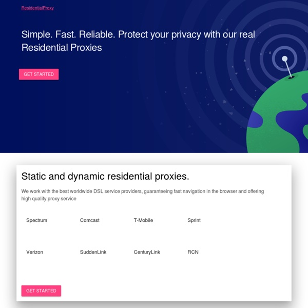 Protect your privacy with our real Residential Proxies