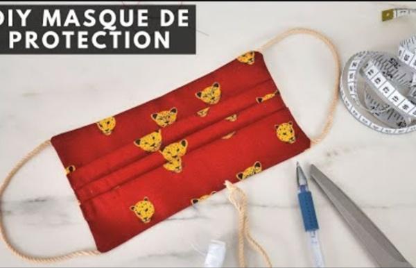 DIY - FAIRE UN MASQUE DE PROTECTION EN TISSUS ET SANS MACHINE A COUDRE - (Entraide coronavirus)...