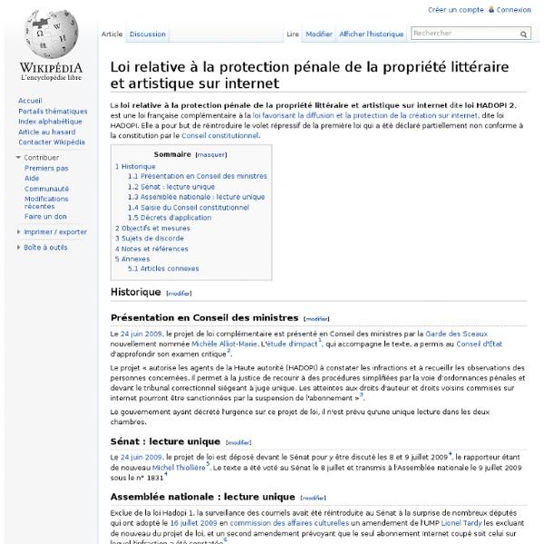 Loi relative à la protection pénale de la propriété littéraire e