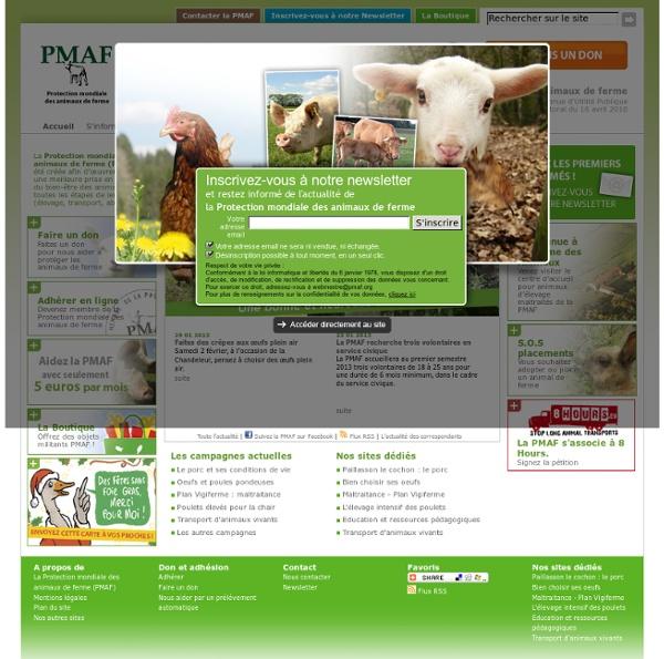 PMAF : Protection Mondiale des Animaux de Ferme