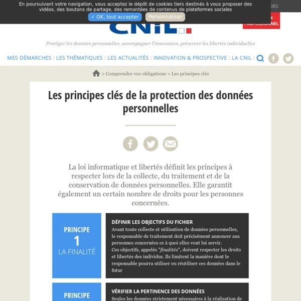 Les principes clés de la protection des données personnelles
