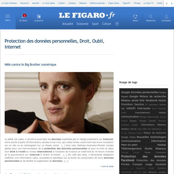 Protection des données personnelles, Droit, Oubli, Internet -