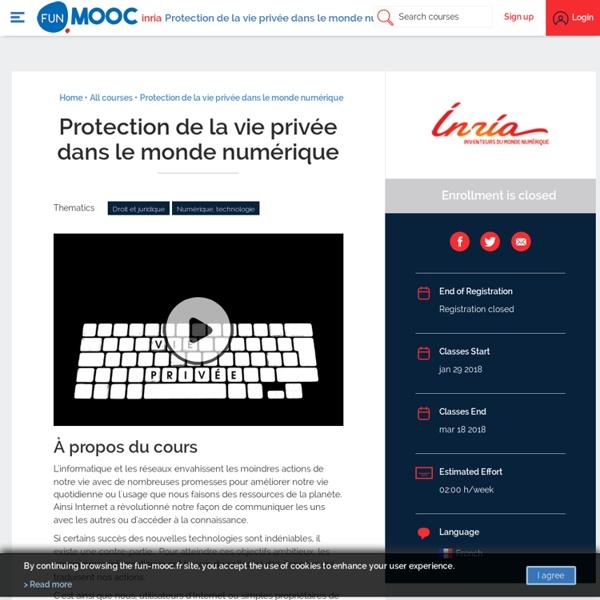 Protection de la vie privée dans le monde numérique