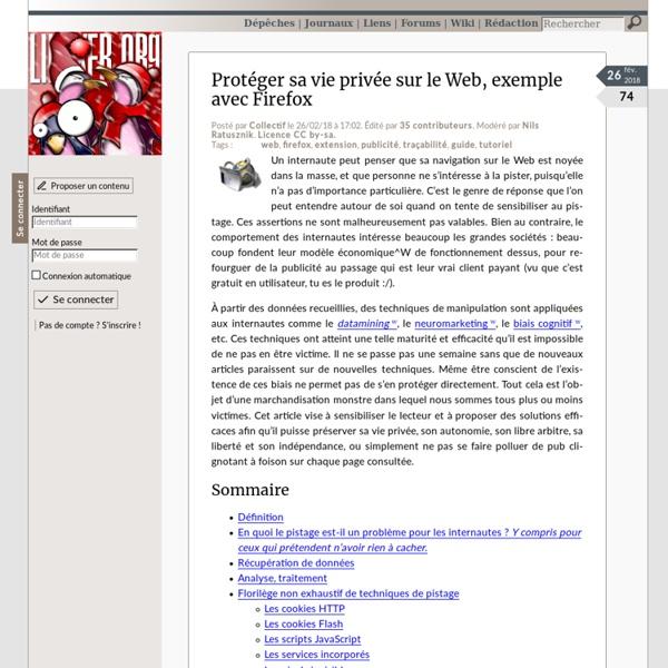 Protéger sa vie privée sur le Web, exemple avec Firefox