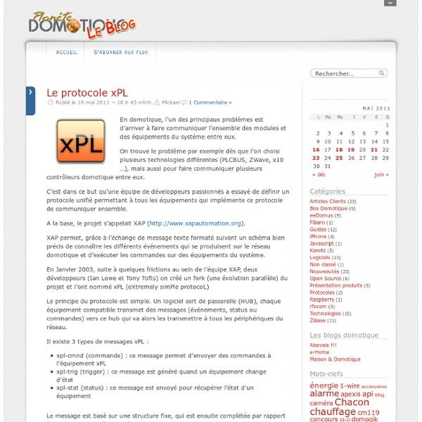 Le protocole xPL