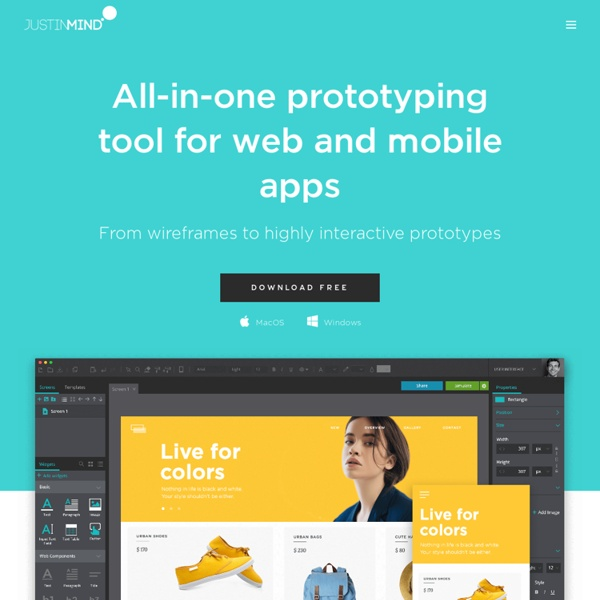 Justinmind: Interactive wireframes for web and mobile