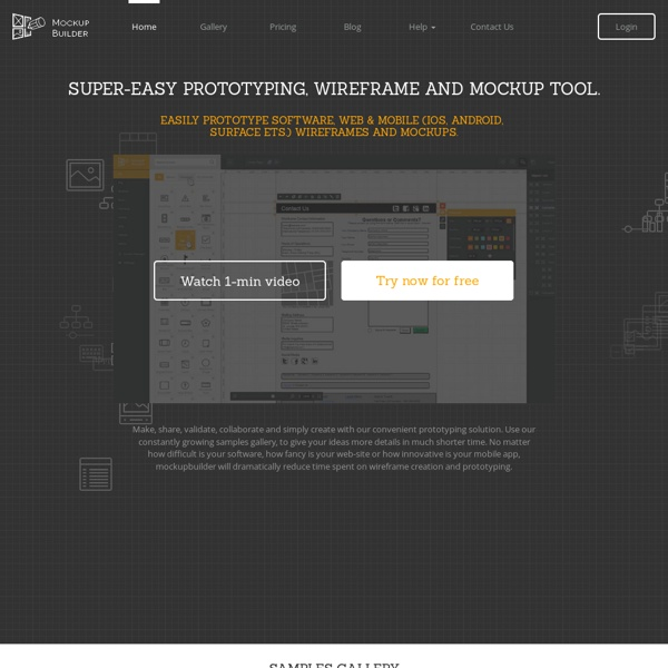 Mockup Builder — Online web prototyping wireframe tools, software