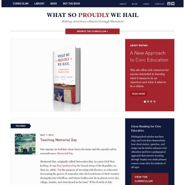 Making American citizens through literature