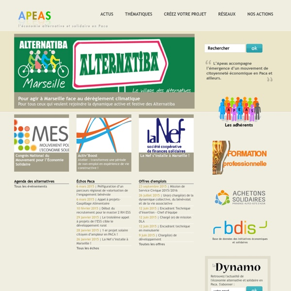 APEAS - Agence provençale pour une économie alternative et solidaire