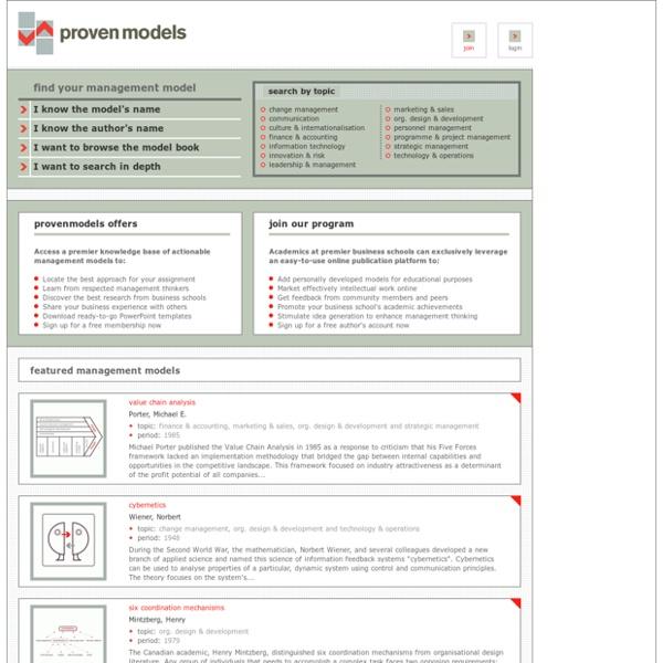ProvenModels - Management Models