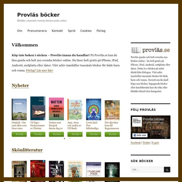 Provläs böcker - gratis smakprov och recensioner