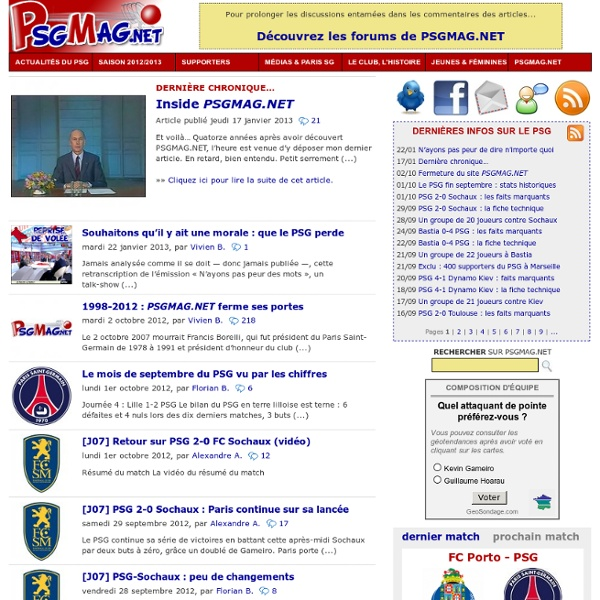 PSGMAG.NET - le magazine du PSG