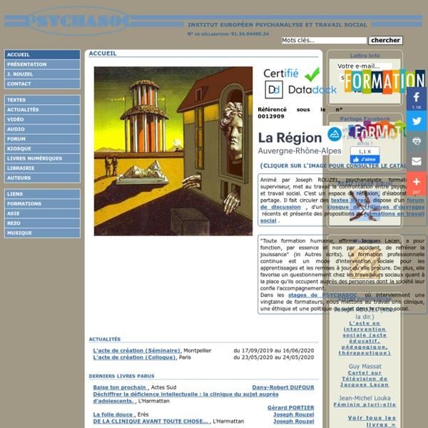 Psychasoc - institut européen psychanalyse et travail social