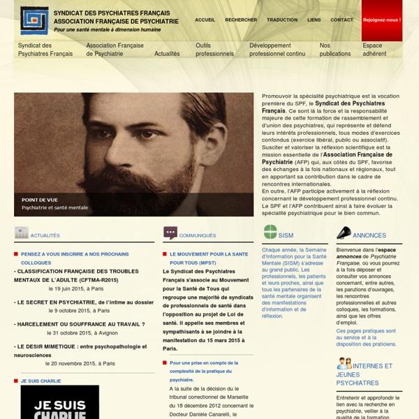 Psychiatrie-francaise.com. Accueil