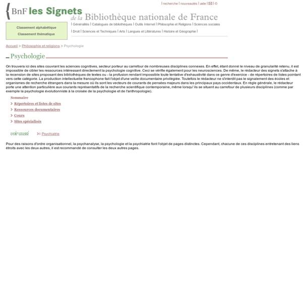 BNF Signets - Psychologie