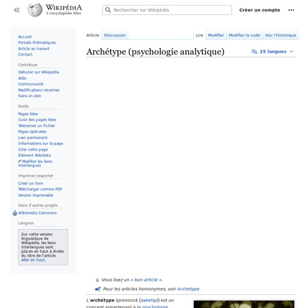 Archétype (psychologie analytique)