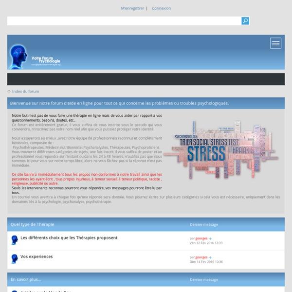 Forum psychologie Gratuit : Consultation en ligne