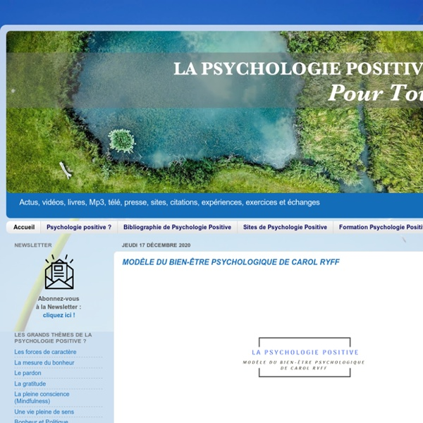 Blog - Psychologie Positive