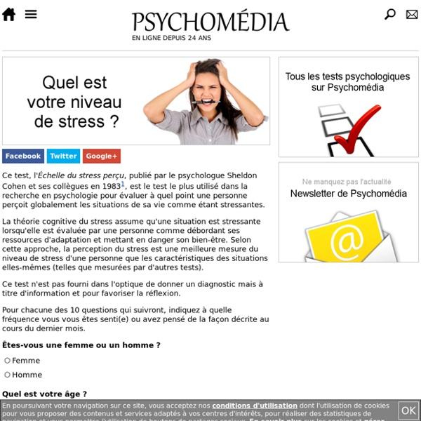 Test psy : Échelle de stress perçu