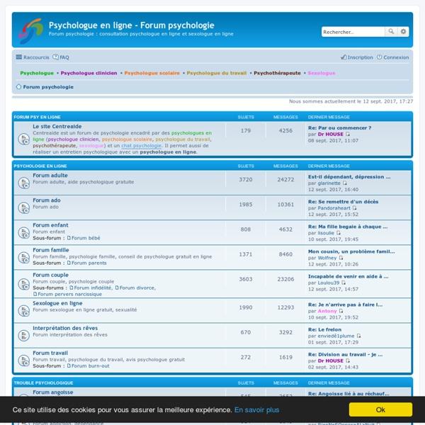Psychologue en ligne - Forum psychologie