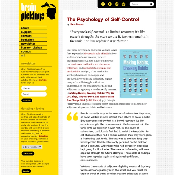 The Psychology of Self-Control