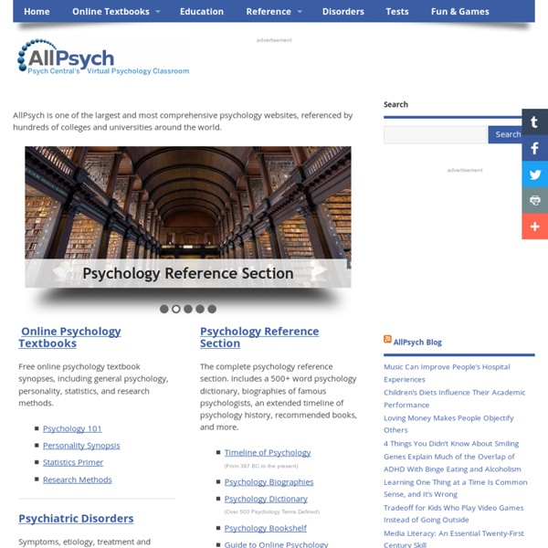 AllPsych - Psychology Information For Students Of All Ages