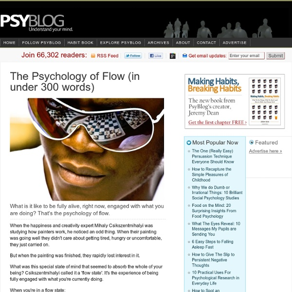 The Psychology of Flow