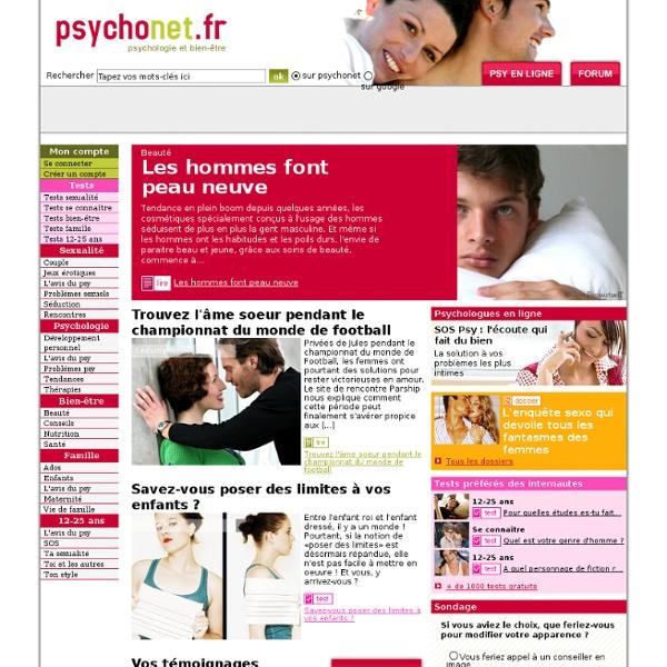 Psychonet.fr : Psychologie, sexualité, couple, famille et bien-être