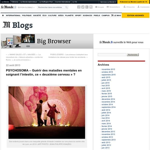 PSYCHOSOMA – Guérir des maladies mentales en soignant l'intestin, ce «deuxième cerveau» ?